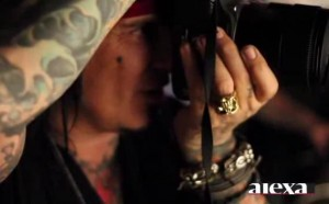 NIKKI SIXX SHOOTS PIX FOR NY POST FASHION INSERT ALEXA