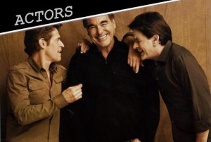 CHARLIE SHEEN & PLATOON CAST MEMBERS IN HOLLYWOOD REPORTER
