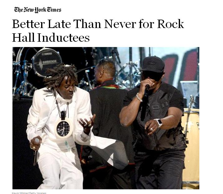 Better Late Than Never for Rock Hall Inductees
