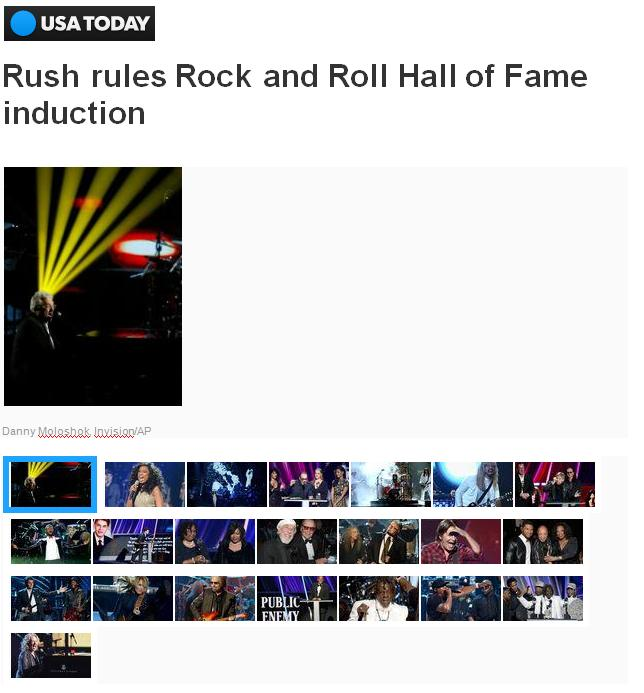 Rush rules Rock and Roll Hall of Fame induction