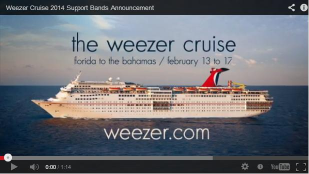 Spin On The Weezer Cruise Scoop Marketing