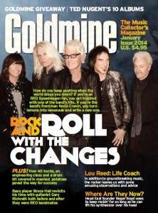 REO SPEEDWAGON is on the Jan. cover of Goldmine