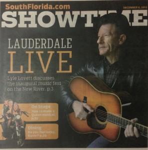 Lauderdale Live's Lyle Lovett — Sun Sentinel cover