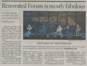 LA TIMES: Renovated Forum is Mostly Fabulous