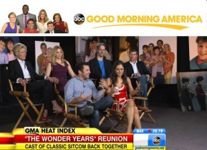 """THE WONDER YEARS cast promoting """"The Complete Series"""" DVD packages on Good Morning America."""