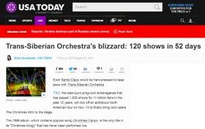 USA Today Announces Trans-Siberian Orchestra's  Winter 2014 Tour