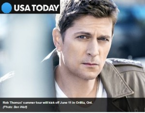 USA TODAY: Rob Thomas headed for Great Unknown Tour