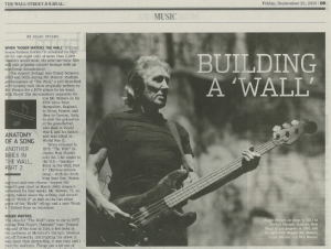 THE WALL STREET JOURNAL: Roger Waters on 'Another Brick in the Wall'