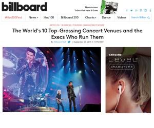 BILLBOARD: The World's 10 Top-Grossing Concert Venues and the Execs Who Run Them