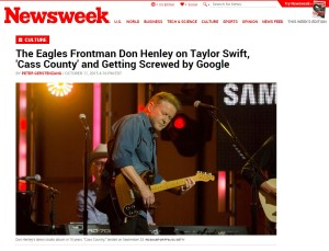 NEWSWEEK: The Eagles Frontman Don Henley on Taylor Swift, 'Cass County' and Getting Screwed by Google