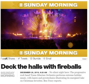 Trans-Siberian Orchestra on CBS Sunday Morning