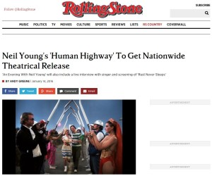 Neil Young's 'Human Highway' To Get Nationwide Theatrical Release