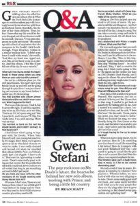 Rolling Stone – Gwen Stefani Q&A