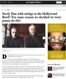 LA TIMES: Steely Dan at the Hollywood Bowl