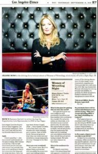 LA Times- Women of Wrestling Returns