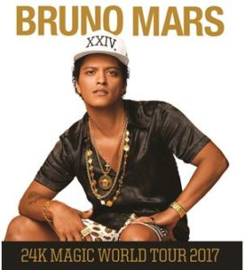 Bruno Mars to Bring 24K Magic Tour to the Forum- 4 Nights Nov. 2017