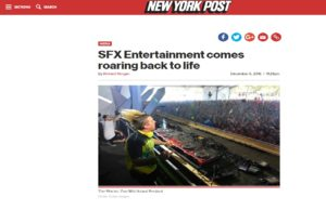 NY POST: SFX Entertainment comes roaring back to life