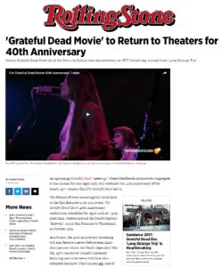 'Grateful Dead Movie' to Return to Theaters for 40th Anniversary