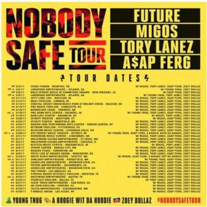 FUTURE UPDATES AND EXTENDS THIS SUMMER'S NOBODY SAFE TOUR – TOUR COMING TO THE 'FABULOUS' FORUM ON JUNE 16