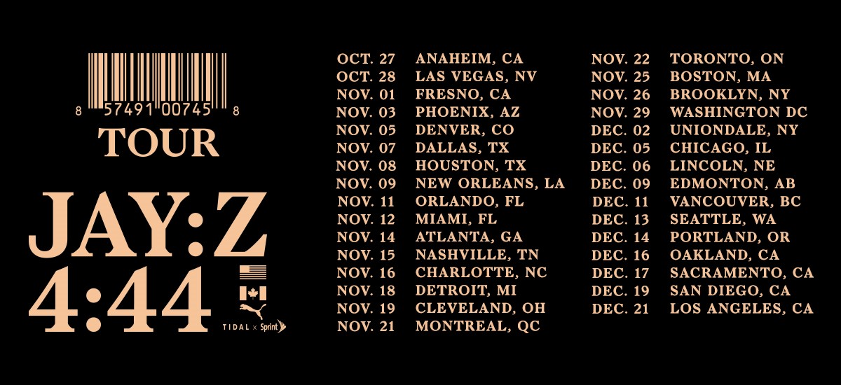 Jay-Z Announces 4:44 Tour Coming to the Forum on December 21, 2017