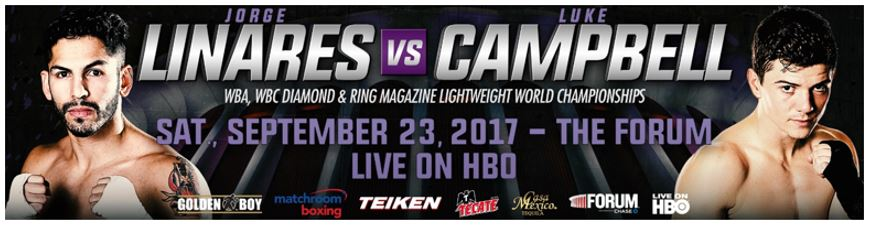 Linares vs. Campbell Live on HBO from the Forum on September 23