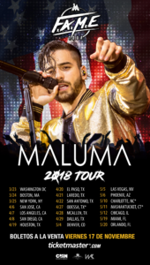 Maluma Announces His F.A.M.E. USA Tour Coming to the 'Fabulous' Forum April 7