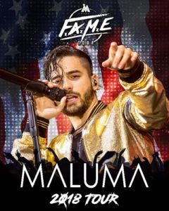 Maluma Adds Second Date to his F.A.M.E. USA Tour at the Forum on April 11