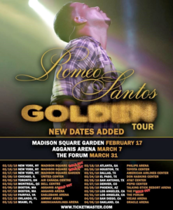 Romeo Santos Continues to Sell Tickets for Tour in the United States, Announces New Date at the Forum on March 31 – Release in both English and Spanish.