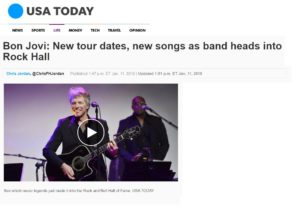 USA TODAY – Bon Jovi: New tour dates, new songs as band heads into Rock Hall