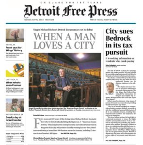 DETROIT FREE PRESS- When A Man Loves A City