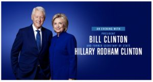 """An Evening with President Bill Clinton and former Secretary of State Hillary Rodham Clinton"" Coming to the Forum May 4"