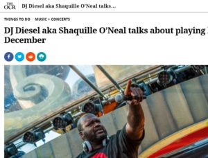 OC REGISTER: DJ Diesel aka Shaquille O'Neal… playing his first L.A. DJ set in Dec.