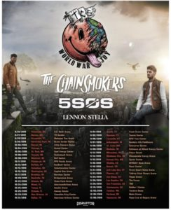 "The Chainsmokers ""World War Joy"" Tour Coming to the Forum November 26"