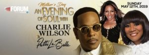 "Charlie Wilson, Patti LaBelle, and Stephanie Mills in ""An Evening of Soul"" at the Forum May 12"