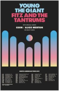 Young the Giant and Fitz and the Tantrums Announce North American Co-Headline Tour Coming to the Forum August 10