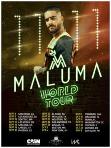 Maluma 11:11 World Tour Coming to the Forum September 8