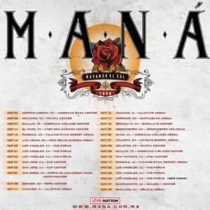 Maná Adds Sixth Show at the Forum on November 24
