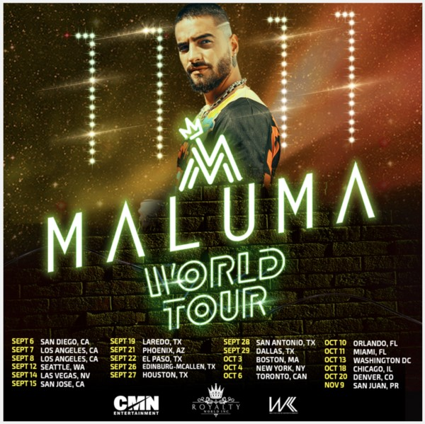 Maluma Adds Second Concert Date at the Forum September 7