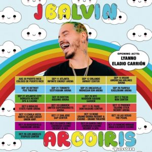 "Global Superstar J Balvin Announces Highly Anticipated ""Arcoiris"" Fall North American Tour"