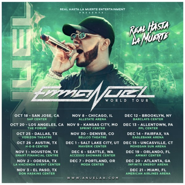 Anuel AA Coming to the Forum October 20 | SCOOP MARKETING: