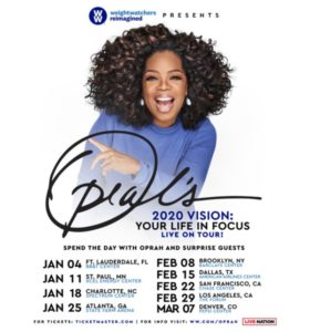 'Oprah's 2020 Vision: Your Life in Focus' Tour Coming to the Forum February 29