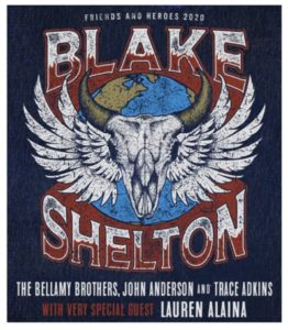 """Blake Shelton """"Friends and Heroes 2020"""" Coming to the Forum March 7"""