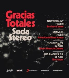 Gracias Totales – Soda Stereo Tour Coming to the Forum April 25