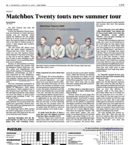 USA Today: Matchbox Twenty announces summer tour