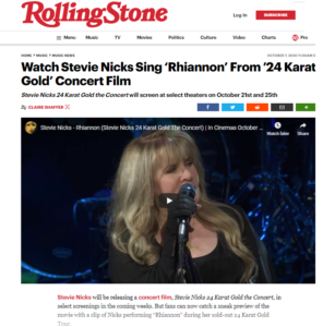 Watch Stevie Nicks Sing 'Rhiannon' From '24 Karat Gold' Concert Film