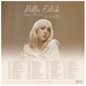 Billie Eilish Announces Happier Than Ever, The World Tour Coming to the Forum April 6, 8 & 9