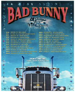 """Bad Bunny Announces """"El Último Tour del Mundo 2022"""" Coming to the Forum on February 25"""